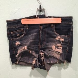American Eagle Hi-rise ripped shorts-Size 8